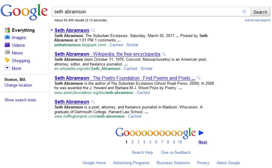 Google Experiment