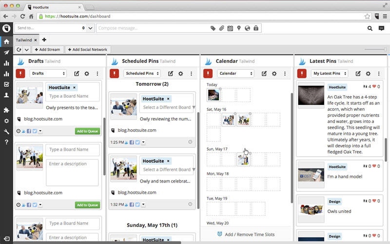 The Best Free Social Media Management Tools In WordStream - Hootsuite social media calendar template