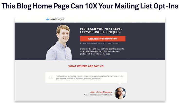 Free landing page templates LeadPages