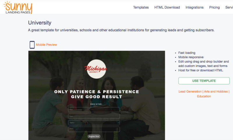 9 Quality Sources For Beautiful Landing Page Templates Wordstream