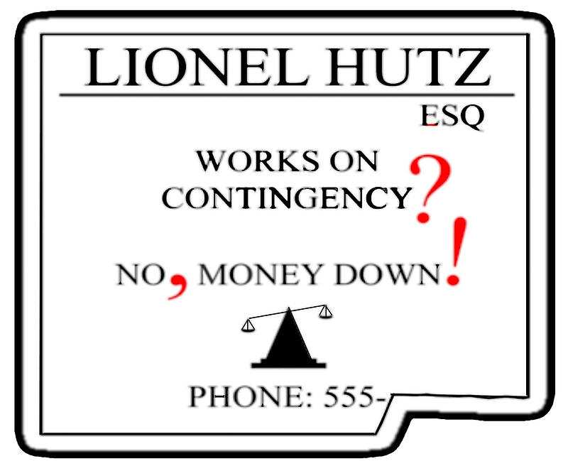 Freelancer's guide to taxes Simpsons Lionel Hutz attorney business card