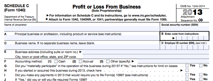 Freelancer's guide to taxes IRS Schedule C Form 1040
