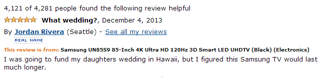 funny amazon customer reviews