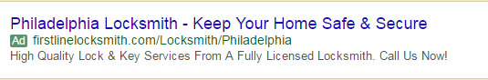 geo customized adwords search ad for local business
