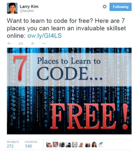 Get more retweets learn to code for free