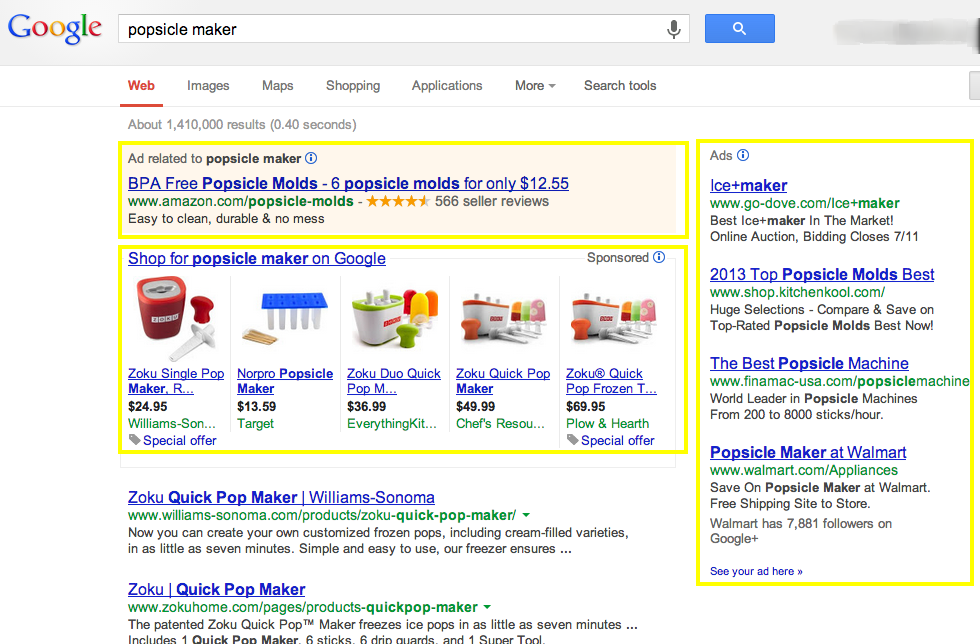Google Ad Examples