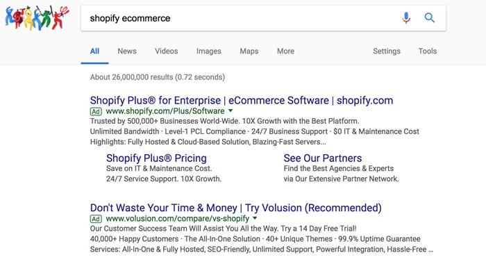 bidding on your own brand term in google