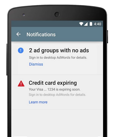 adwords app for android
