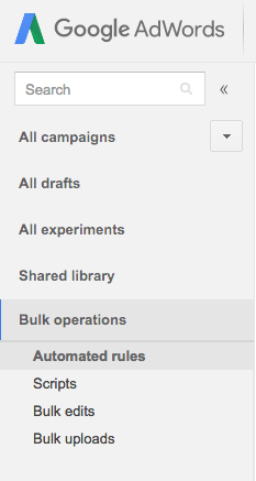 adwords bulk operatoins