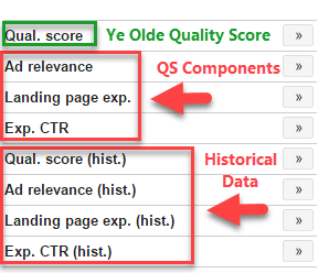 2017 new adwords historical quality score reporting