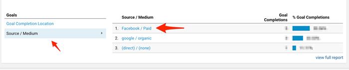 facebook ads attribution in google analytics source medium