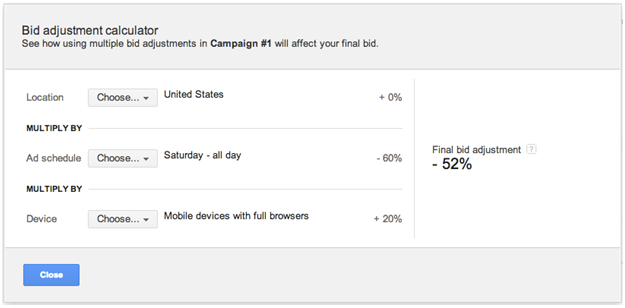 Google AdWords Bid Adjustments