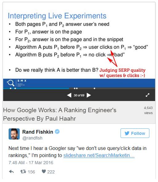 google ctr experiments