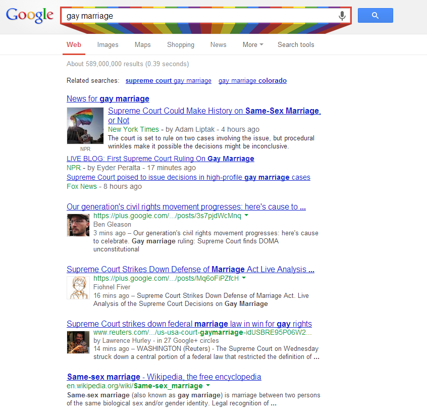Rainbow Search Box DOMA