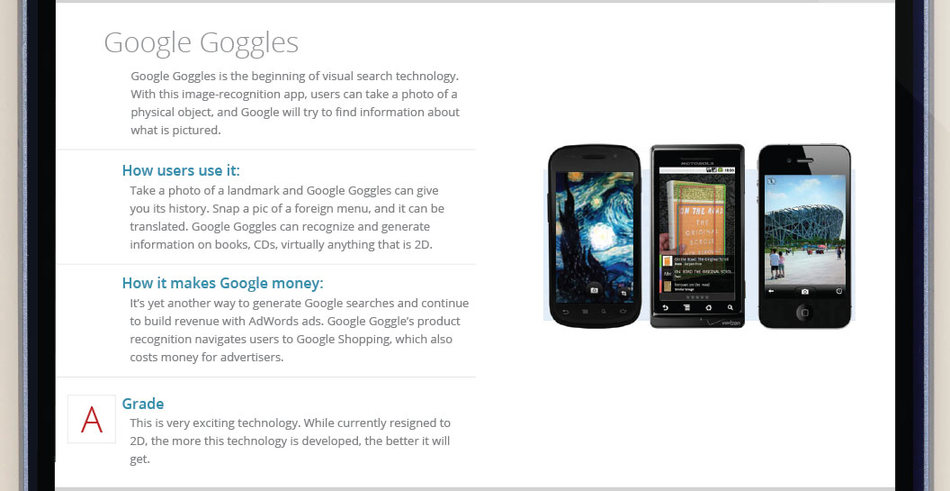 Google Goggles for Mobile