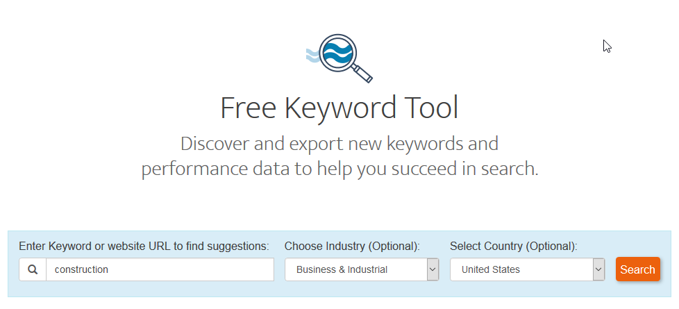 google keyword tool try our free open keyword tools