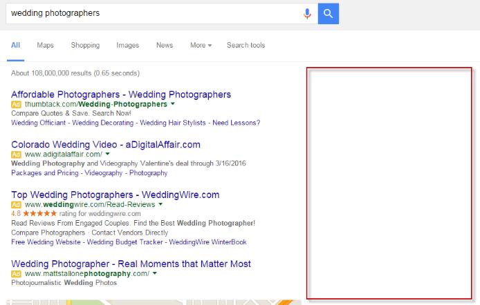 Google kills right-side ads