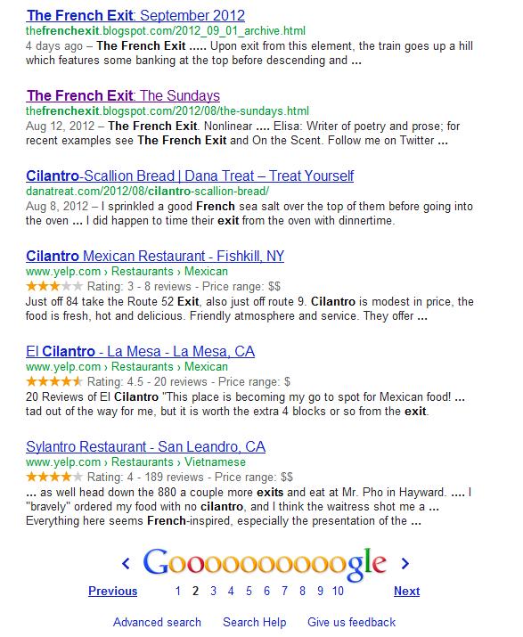 Google SERP fail