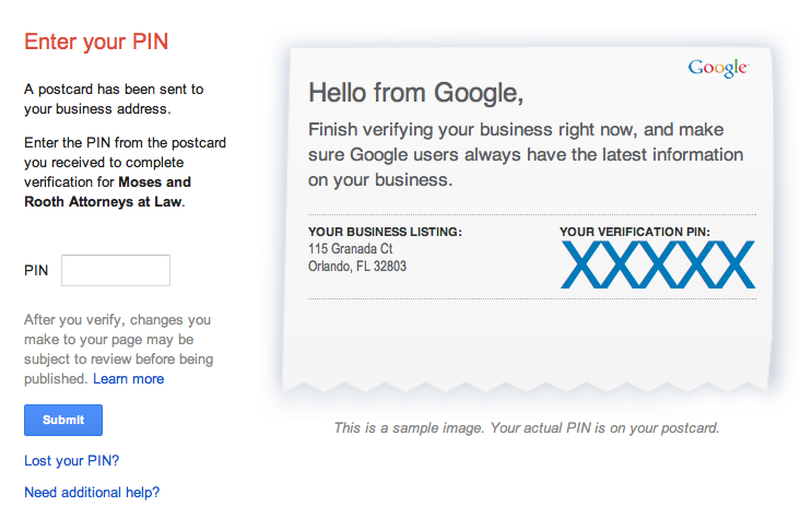 Google Maps marketing Google My Business verification