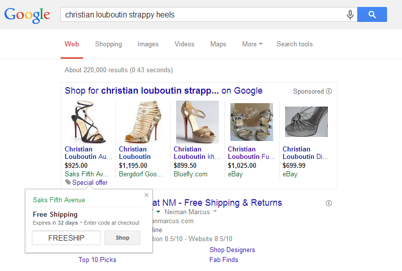 google adwords merchant promotions