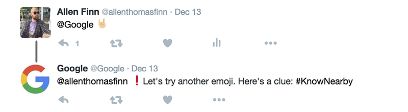 emoji google does not respond to on twitter response