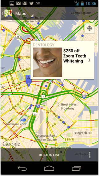 Google Maps Offers
