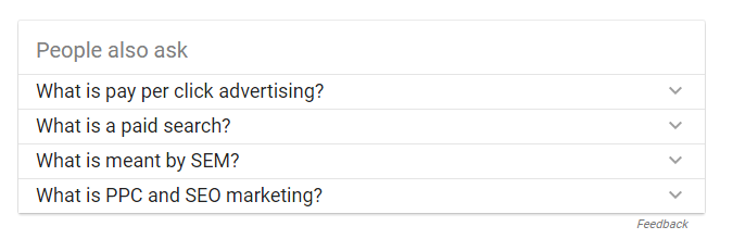 related questions feature google