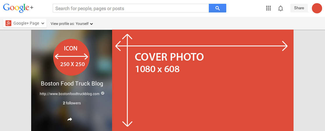 how to change google profile image