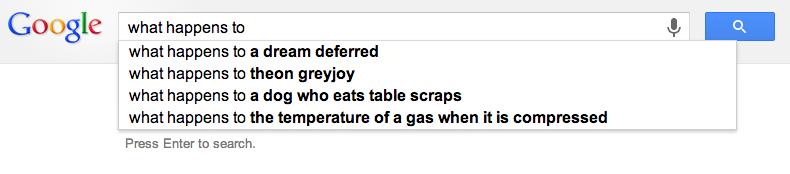 Google Predictive Search Funny