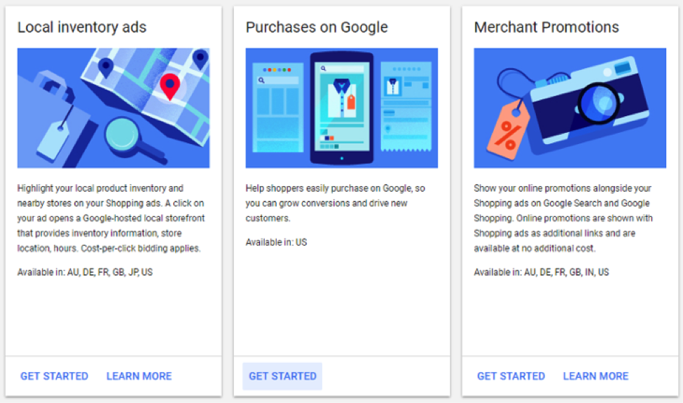 Google Purchases Beta Merchant Center