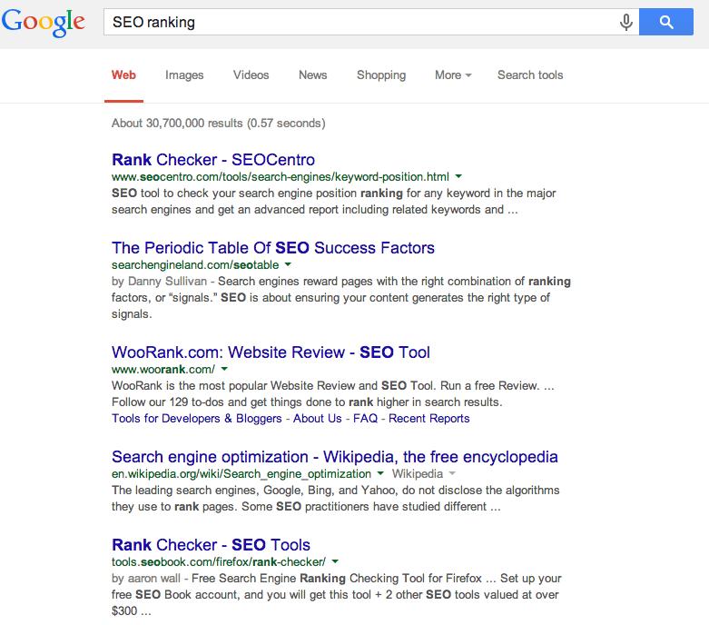 google rank checking tools