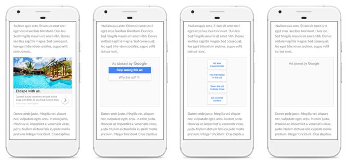 google remarketing ad mute process