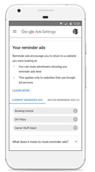 mute google reminder ads