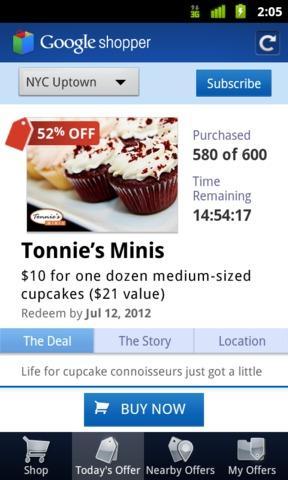 Google Shopper Offers
