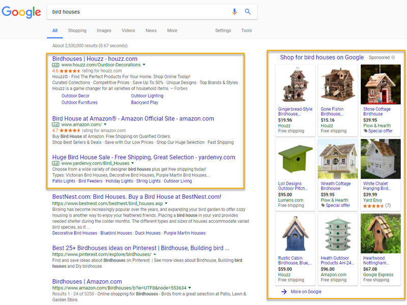 what are google sponsored links