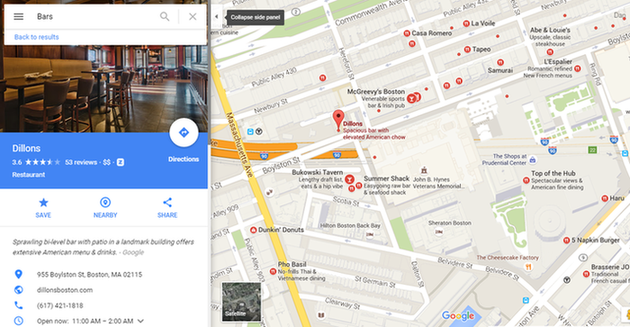 Google Voice Search Google Maps listing images example