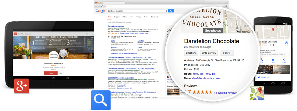 Google Voice Search Google My Business listing example