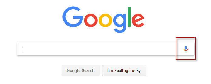 Ícone de microfone da Pesquisa por voz do Google