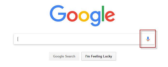 Ícono de micrófono de Búsqueda por voz de Google