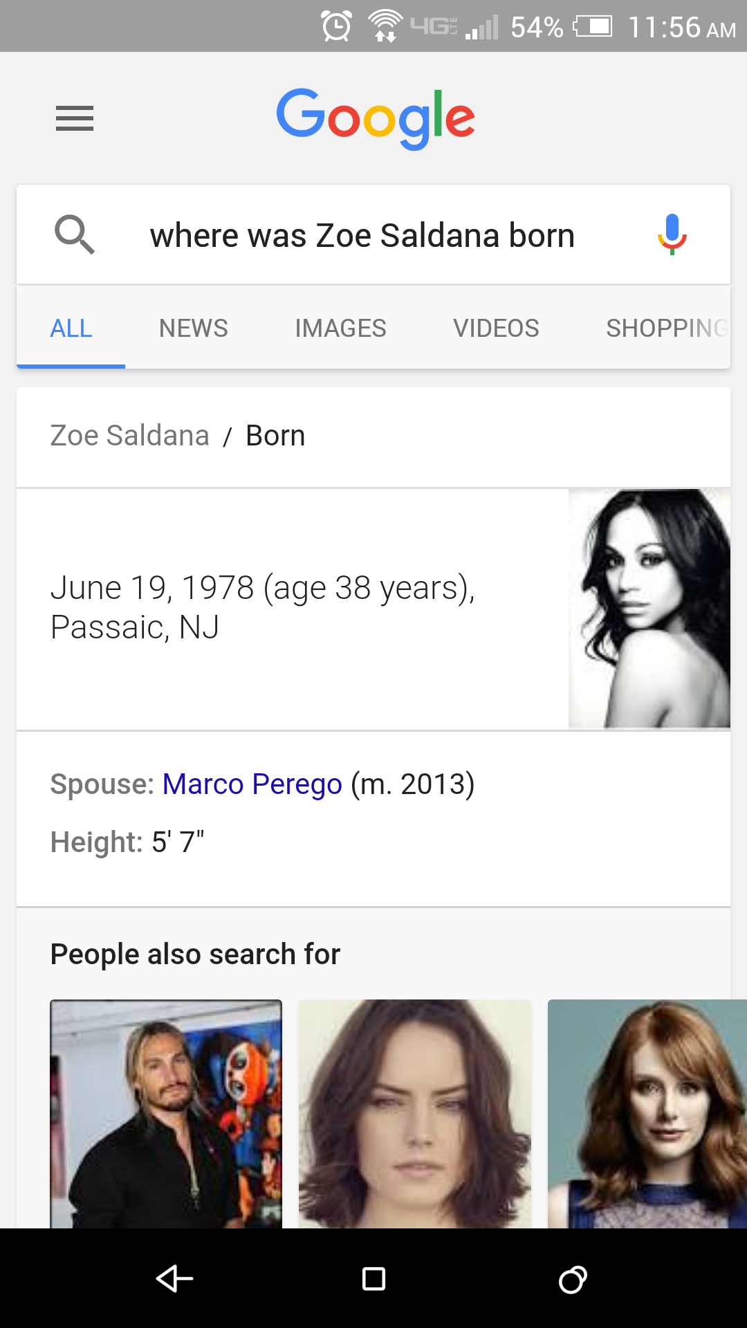 Image result for google voice search zoe saldana character