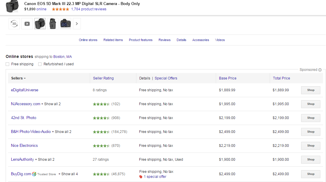 Google's Largest Shopping Ad EVER Spotted on the SERPs | WordStream