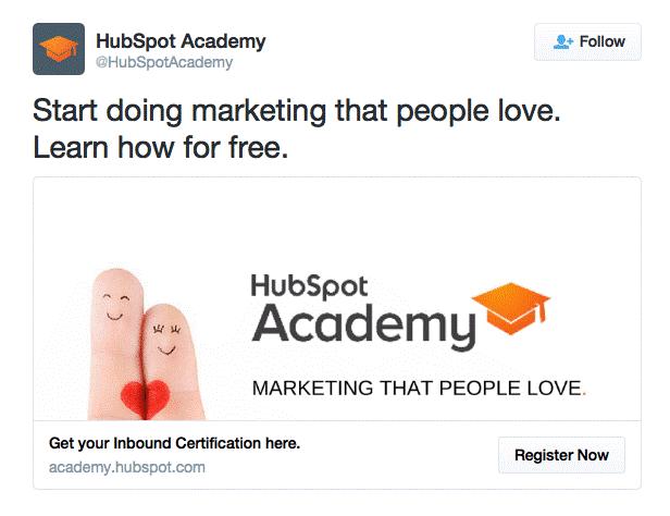 hubspot ad example