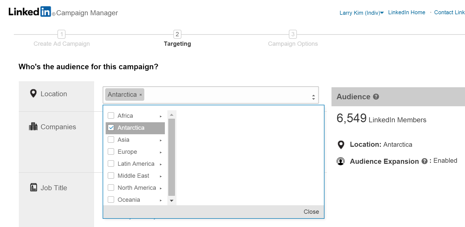 8 reasons I hate LinkedIn ads Antarctica audience targeting