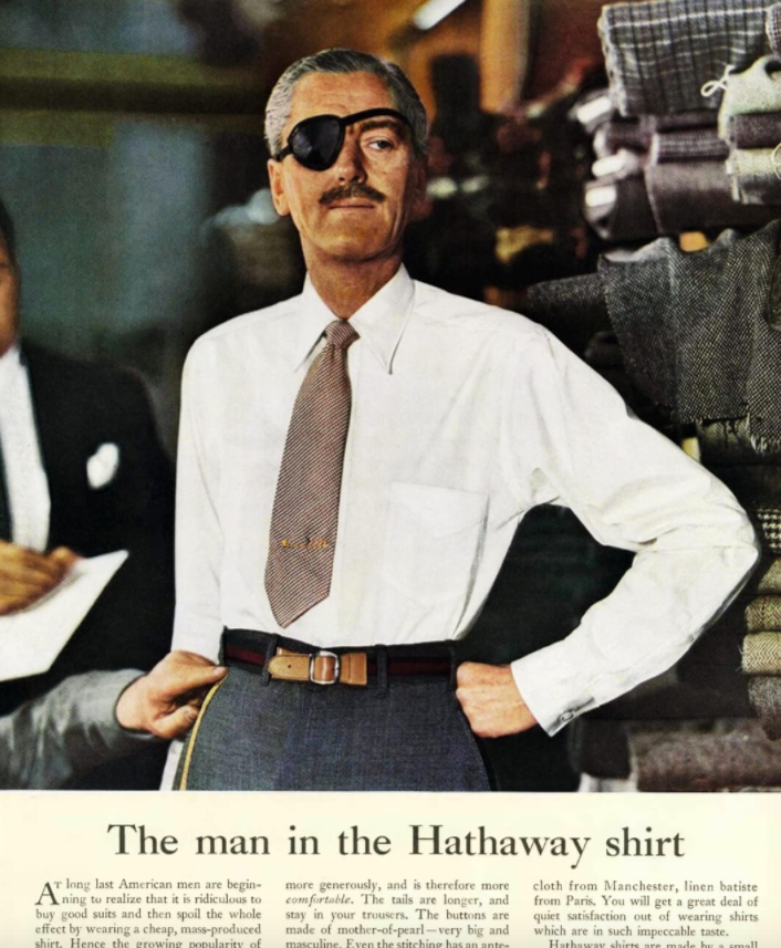 hathaway shirt vintage ad