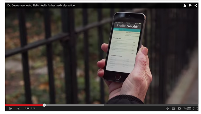 healthcare marketing screenshot of a video by hello health