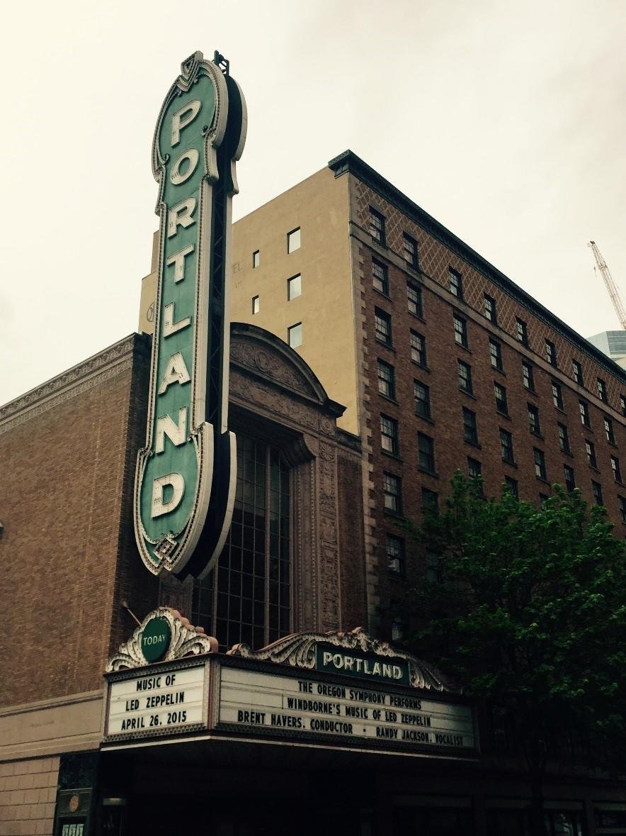 Image of the Portland movie theater sign