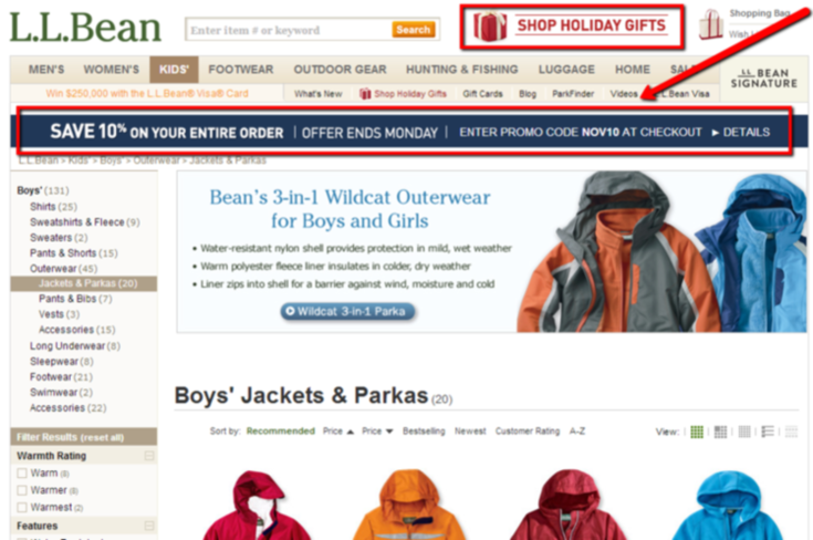 Holiday marketing tips urgency on landing pages