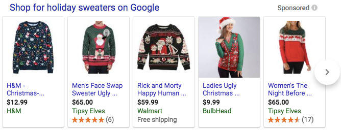 holiday shopping campaigns