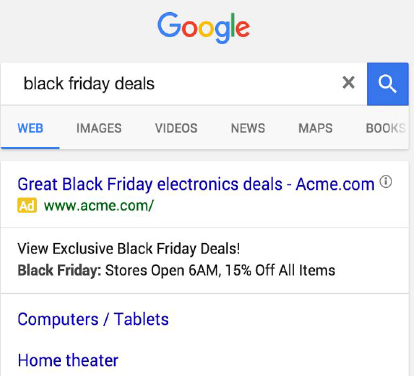 holiday structured snippets