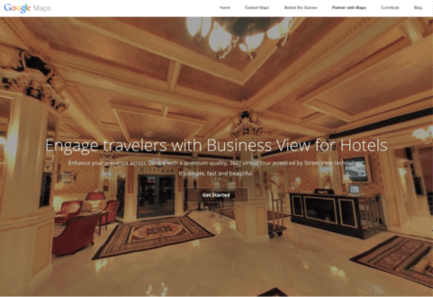 Hotel ads screenshot showing the new virtual tour feature